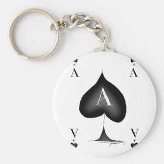 The Ace of Spades by Tony Fernandes Keychain