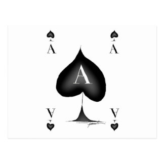 The Ace of Spades by Tony Fernandes Postcard