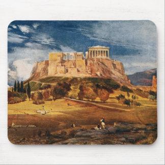 The Acropolis at Athens Greece Color Landscape Mouse Pad