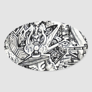 The Adept, or, A Freakish Transfiguration Oval Sticker