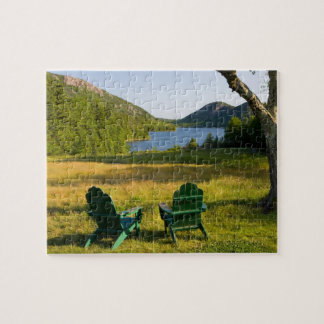 The Adirondack Chairs on the lawn of the Jordan Jigsaw Puzzle