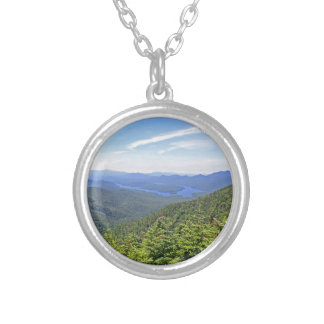 The Adirondacks, New York Silver Plated Necklace