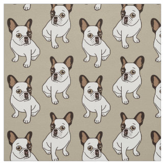 The Adorable Fawn Pied Frenchie Fabric