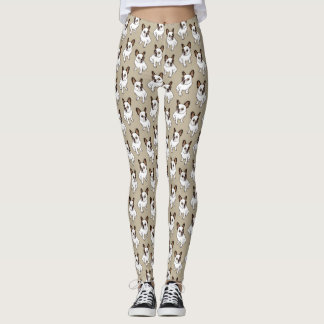 The Adorable Fawn Pied Frenchie Leggings