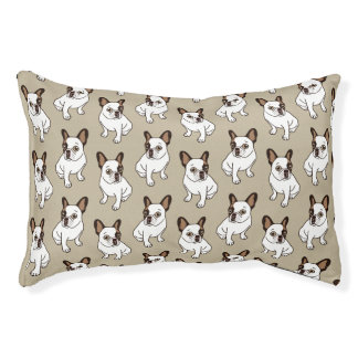 The Adorable Fawn Pied Frenchie Pet Bed