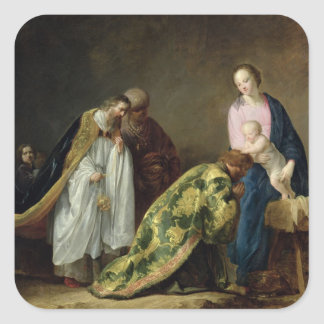 The Adoration of the Magi, 1638 Square Sticker