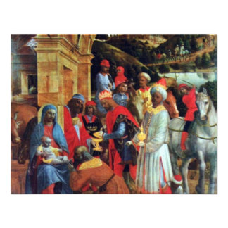 The Adoration Of The Magi By Foppa Vincenzo Personalized Announcements