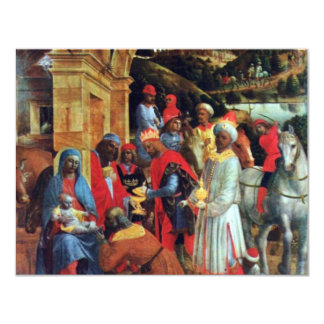 The Adoration Of The Magi By Foppa Vincenzo Custom Invitation