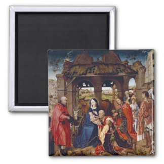The Adoration of the Magi, c.1455 Square Magnet