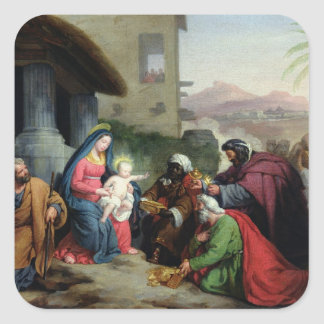 The Adoration of the Magi, c.1833-36 Square Sticker