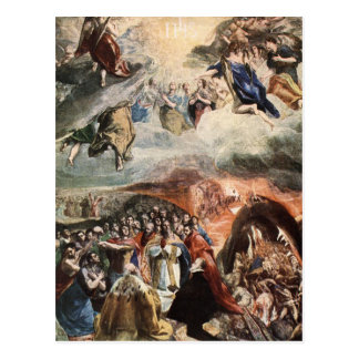 The Adoration of the Name of Jesus by El Greco Postcard