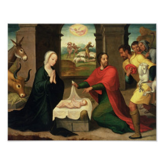 The Adoration of the Shepherds, 1550-60 Poster