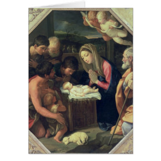 The Adoration of the Shepherds, c.1640-42 Card