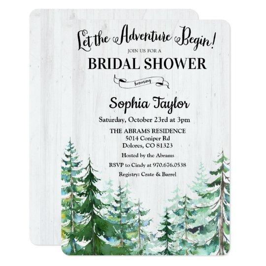 The Adventure Begins Bridal Shower Invitation