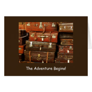 The adventure begins, have a great vacation card. card