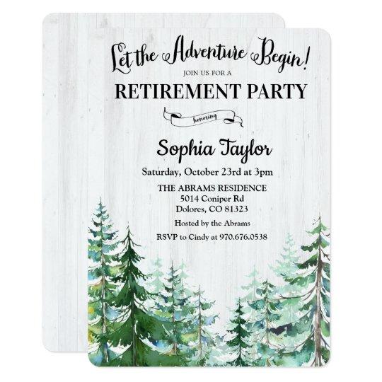 The Adventure Begins Retirement Party Invitation
