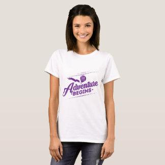 The Adventure Begins Women T-shirt