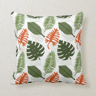 The Adventure in the Tropical Jungle Throw Pillow