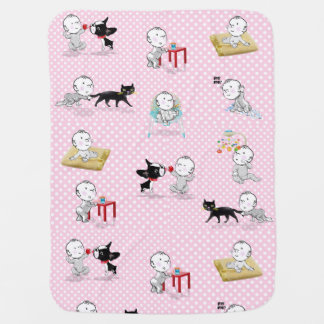 The Adventures of Mirabelle girl baby blanket