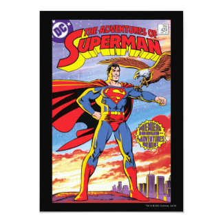 "The Adventures of Superman #424 5"" X 7"" Invitation Card"
