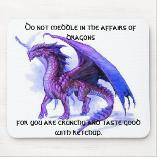 The affairs of dragons mouse pad