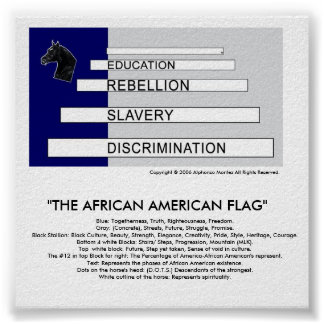 THE AFRICAN AMERICAN FLAG- DETAILED POSTER