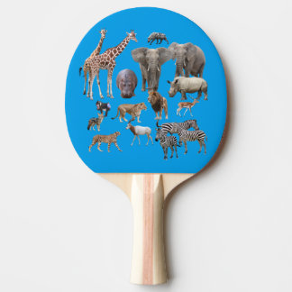 The African animal Ping-Pong Paddle