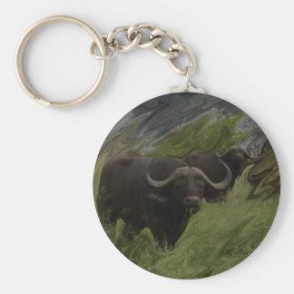 The African Buffalo Keychain