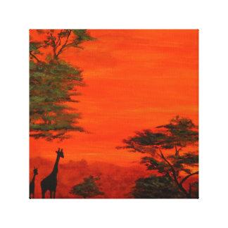 The African Safari Canvas Print