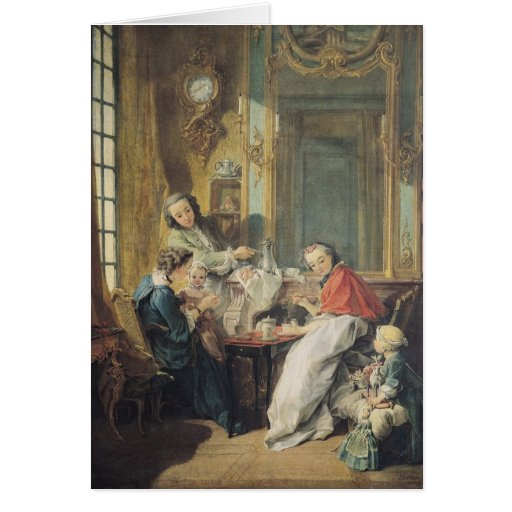 The Afternoon Meal, 1739 Greeting Card