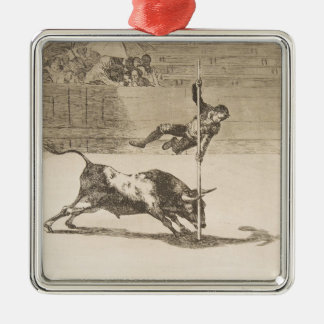 The Agility and Audacity of Juanito Apinani Goya Silver-Colored Square Ornament