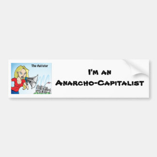 The Agitator Anarcho Bumper Sticker