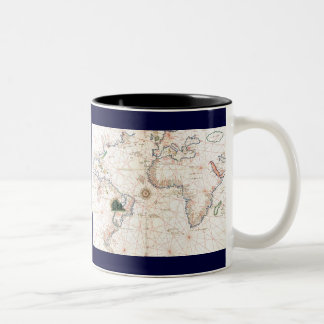 The Agnese Atlantic Chart Two-Tone Coffee Mug