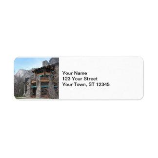 The Ahwahnee- Yosemite Return Address Label