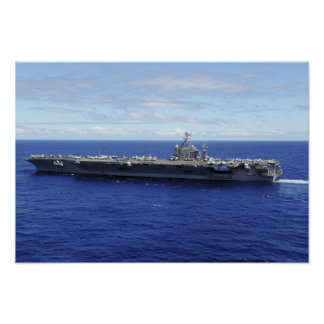 The aircraft carrier USS Abraham Lincoln Poster