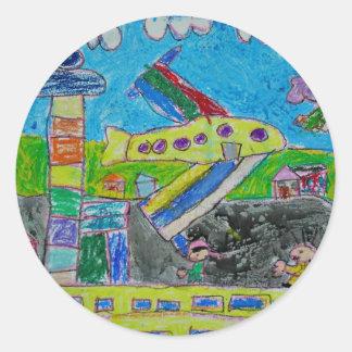 The Airport Classic Round Sticker