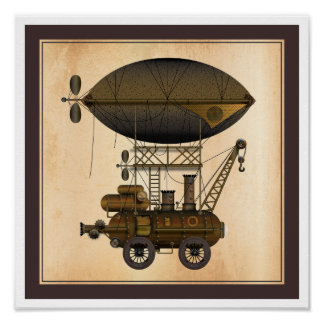The Airship Douglas Industrial Flying Machine Poster