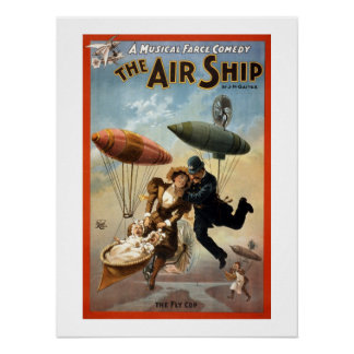 The Airship Vintage Theater Poster. Poster