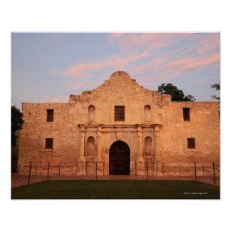 The Alamo Mission in modern day San Antonio, 2 Poster