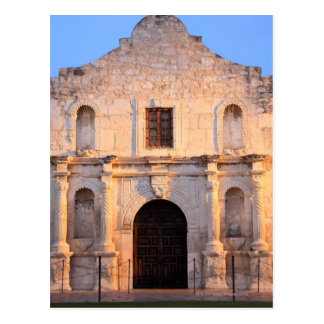 The Alamo Mission in modern day San Antonio, Postcard