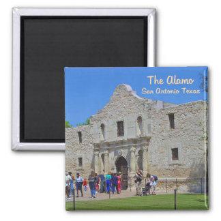 The Alamo San Antonio Texas Square Magnet