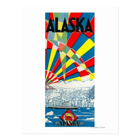 The Alaska Line Steamship Poster Postcard