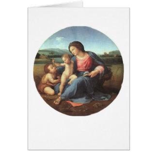 The Alba Madonna - Raphael 1508 Card