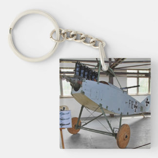 The Albatros D.III was a biplane fighter aircraft Single-Sided Square Acrylic Keychain