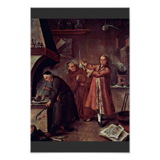 The Alchemist By Longhi Pietro (Best Quality) Poster