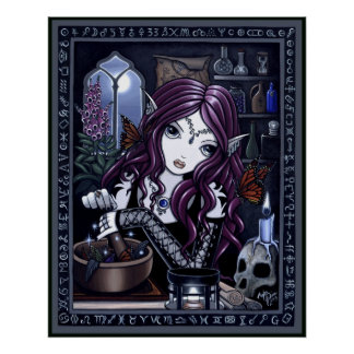 The Alchemist Gothic Fantasy Art Poster