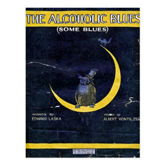 The Alcoholic Blues Postcard