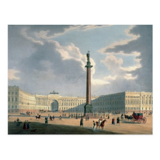 The Alexander Column and the Army Headquarters Postcard