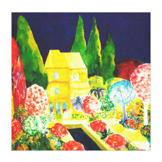 The Alhambra by Night. Canvas Print