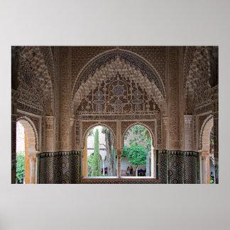 The Alhambra. Fragment of design Poster